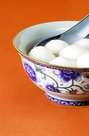 Traditional sweet chinese glutinous rice ball photo