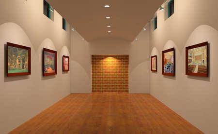 Galleria di rendering Archivio Fotografico
