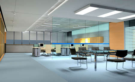 office room interior 3d render   photo