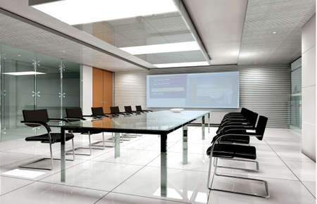 conference room inter 3d render   Stock Photo - 7591487