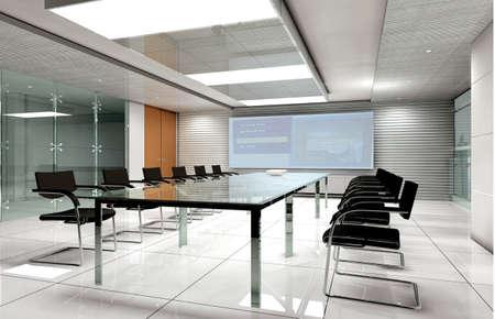 seminar room: conference room interior 3d render
