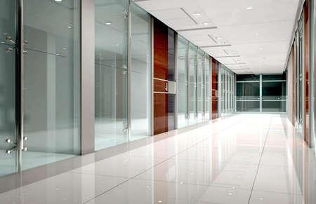 modern corridor interior image Stock Photo