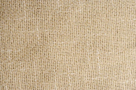 Textured Natural Tan Linen Fabric Background photo