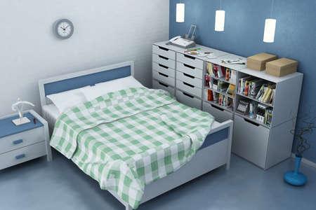 3d rendering of the modern bedroom Stock Photo - 7618111