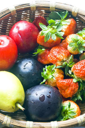Colorful fresh group of fruits Stock Photo - 7618302