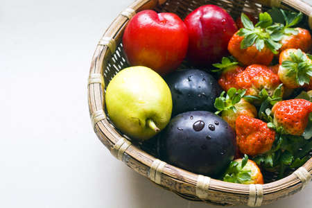 Colorful fresh group of fruits Stock Photo - 7618303