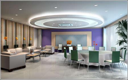 restaurant 3D rendering photo