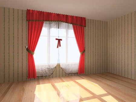 cortinas: Interior de moderna sala vac�a de procesamiento