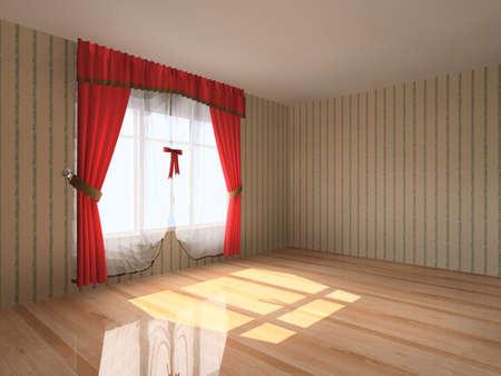 Rendering modern empty room interior Stock Photo - 7611302