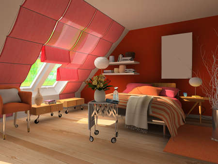 3d rendering of the modern bedroom Stock Photo - 7667248