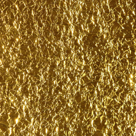 vintage riffle: Gold leaf texture and silver paper Stock Photo