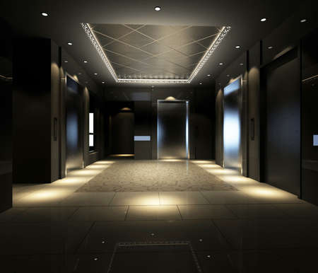 corridoi: Corridoio moderna immagine interiore (rendering 3D)