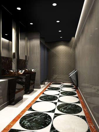 render residence: 3d rendering of the modern bathroom interior