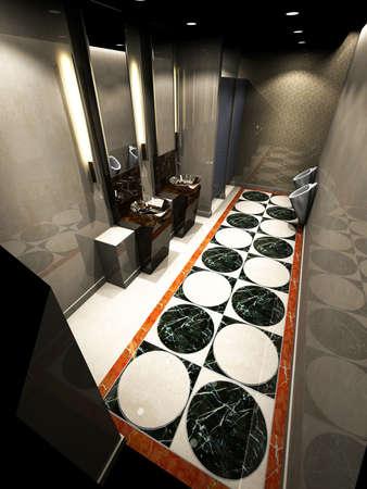 3d rendering of the modern bathroom interior photo