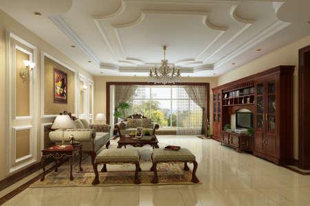 chambre luxe: rendu de salon de luxe