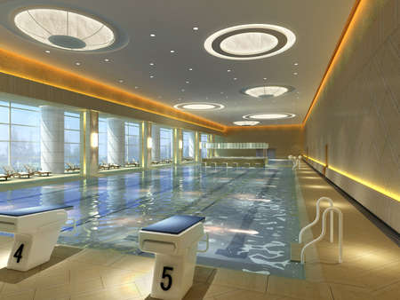 Interior of the swimming pool Stock Photo - 8299081