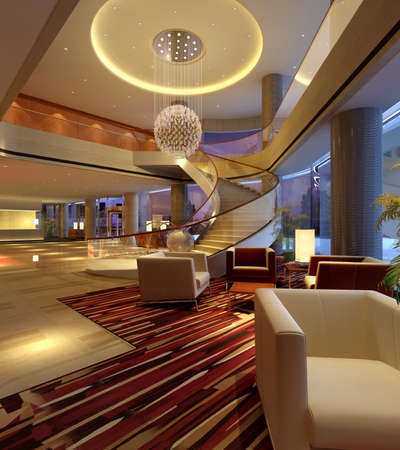 reception hotel: Hotel hall Stock Photo