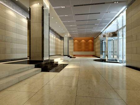 Hotel hall Stock Photo