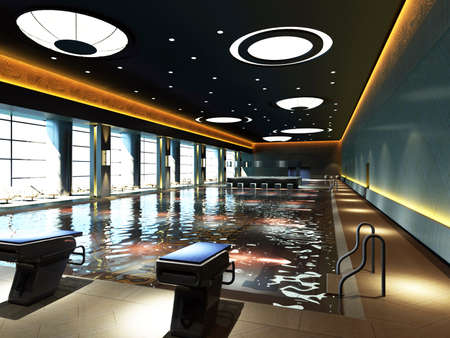 constitute: Picture of an indoor swimming pool