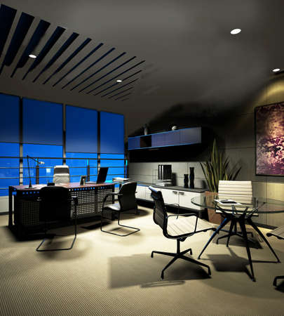 modern office interior: rendering sofa