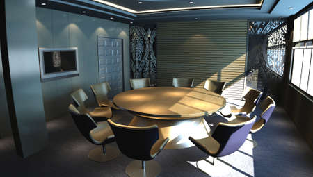 meeting room - rendering  Stock Photo