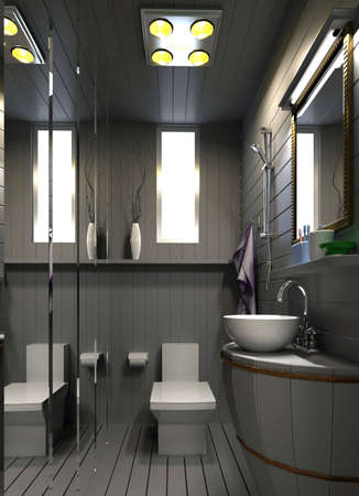 rendering bathroom Stock Photo - 8960536