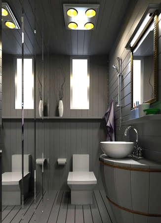 3dmax: rendering bathroom Stock Photo