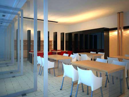render interior of a restaurant  photo