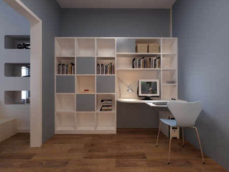 Interior fashionable room rendering photo