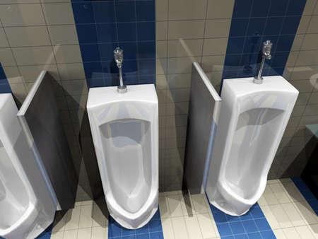 lighting technician: interior of toilet. 3D render Stock Photo