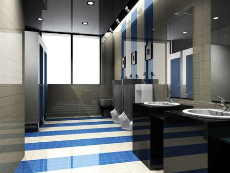 interior of toilet. 3D render 版權商用圖片
