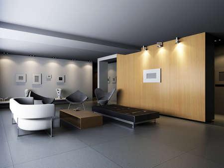 Interior fashionable living-room rendering Stock Photo - 9165247