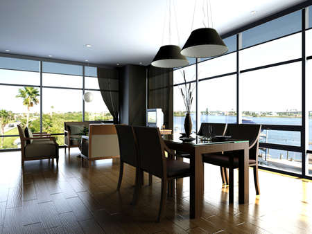 rendering living room photo