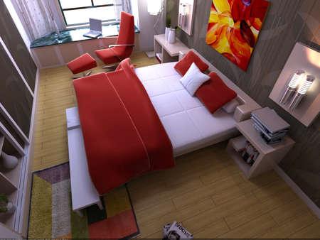 rendering bedroom Stock Photo - 9216449