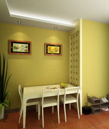 eclecticism: The modern room interior design