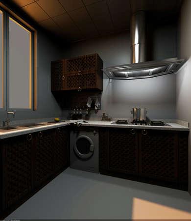 The modern kitchen interior design  photo