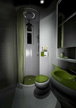 rendering of the modern bathroom inter  Stock Photo - 9238015