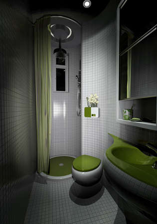 rendering of the modern bathroom interior  Stock Photo - 9238015