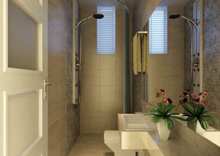 rendering of the modern bathroom interior Stock Photo - 9238005