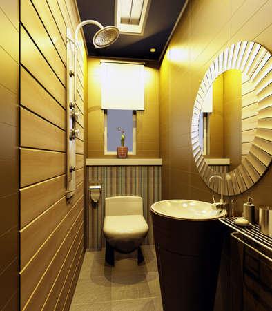 rendering of the modern bathroom interior  photo