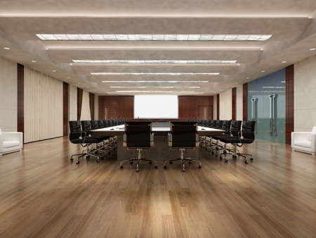 conference room: the computer generated image of the modern conference hall