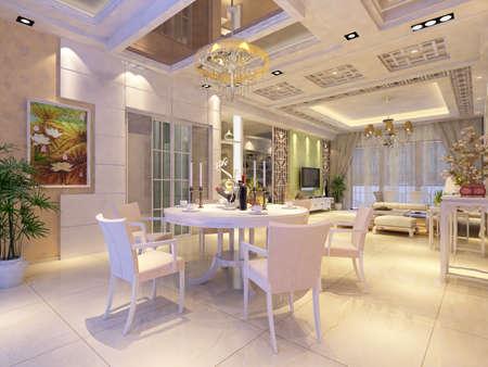Interior fashionable living-room rendering Stock Photo - 9318409