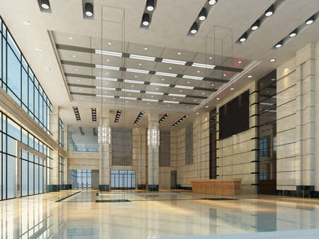 rendering hall in the hotel
