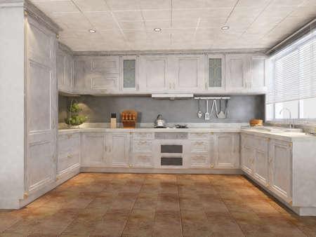 The modern kitchen interior design Stock Photo - 9376676