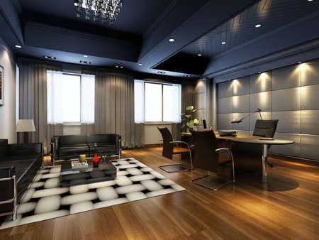 carpet and flooring: rendering office room