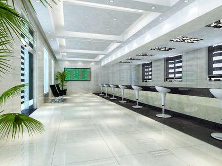 rendering hall Stock Photo