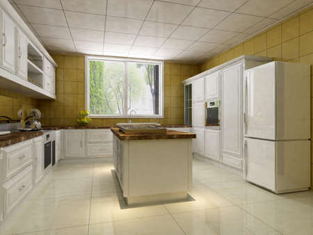 rendering Kitchen Stock Photo - 11338569