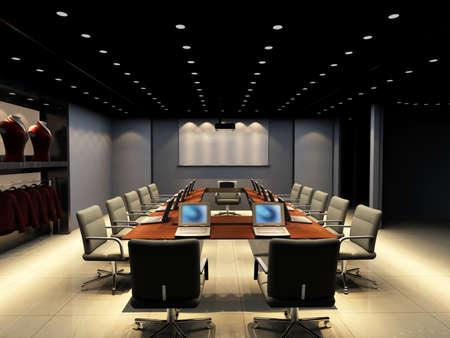 computer generated image: il computer generated immagine della sala conferenza moderna