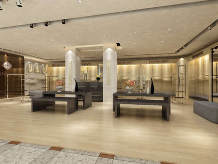 shop interior: rendering shop