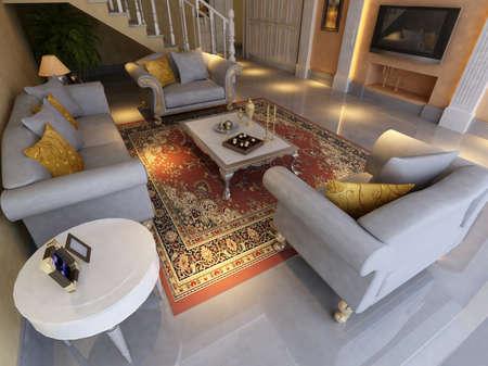 Modern design interior of living-room. render Stock Photo - 9713113